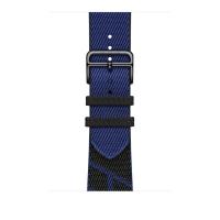 Ремешок Apple Watch Hermès Noir/Bleu Saphir Jumping Single Tour из кожи (для корпуса 44 мм)
