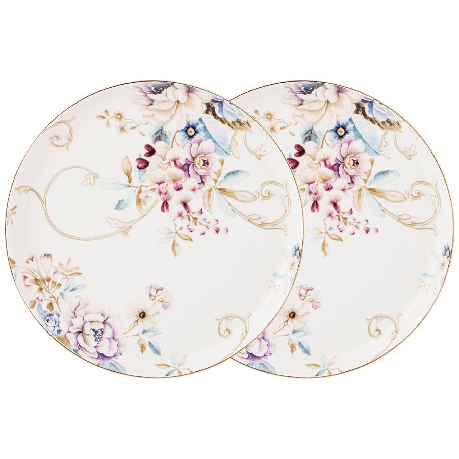 """Набор тарелок закусочных """"Завтрак у короля"""" 2 шт. 20.5 см"""