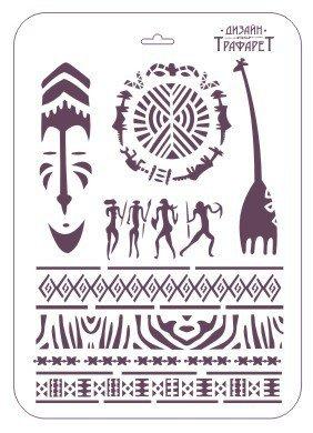 Трафарет для творчества, прямоугольный, ТМ-34, 22*31 см