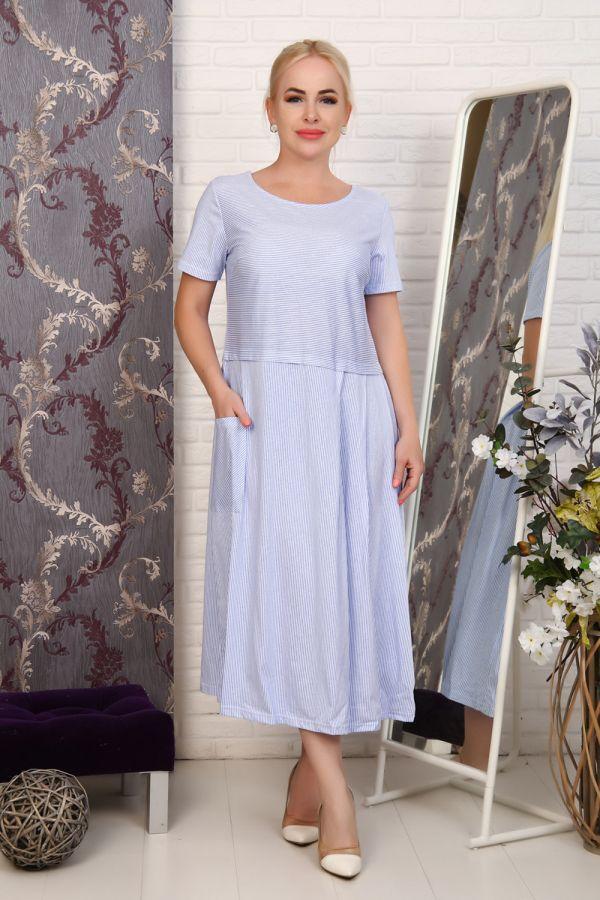 Платье 27601 [голубой]
