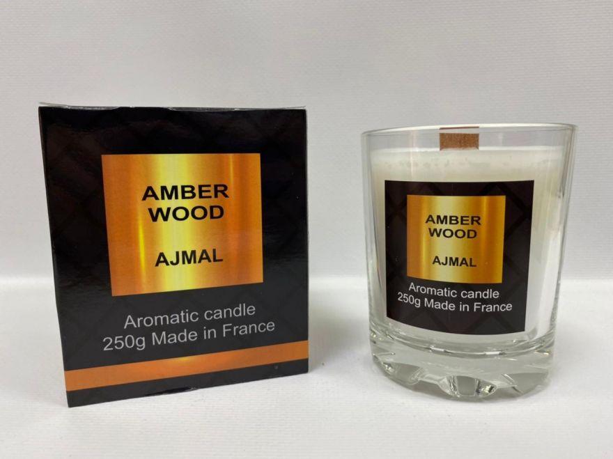 Парфюмерная свеча Amber Wood Ajmal 250 мл