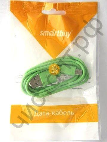 Кабель USB 2.0 Aм вилка(папа)--микро B(microUSB) вилка(папа) Smartbuy USB - micro USB, длина 1,2 м, зеленый (iK-12c green) дата-кабель
