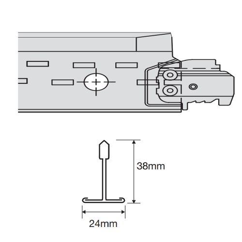 Prelude 24 TLX коррозионно-стойкая рейка поперечная 600 x 30 мм