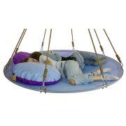 Подвесной мега гамак кровать для дачи голубой