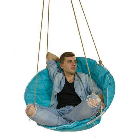 Подвесное кресло d-90см, цвет голубой
