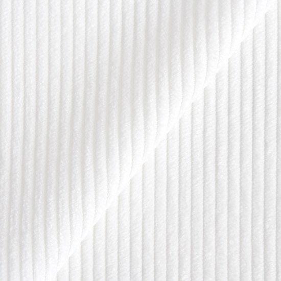 Вельвет в рубчик - белый 50*50 см