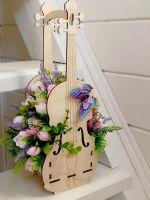 букет из мыла скрипка