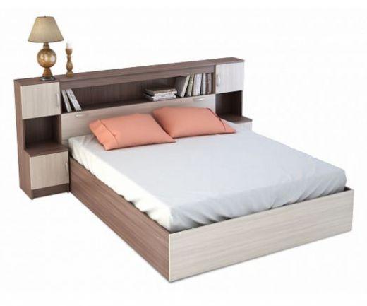Бася Кровать с закроватным модулем ЛДСП КР 552