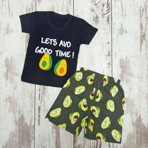Костюм авокадо: футболка, шорты kA-KS069-SUk