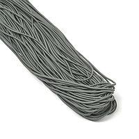 фото Резинка шляпная эластичный шнур круглый Темно-серый разные диаметры TBY-ШЛ.321 темно серый