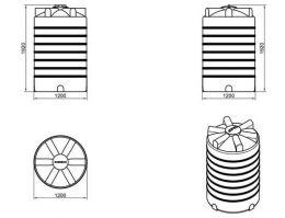 Емкость для воды К2000 литров