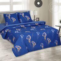 «Каллы» (DE LUXE) постельное белье Поплин 2-х спальный с евро