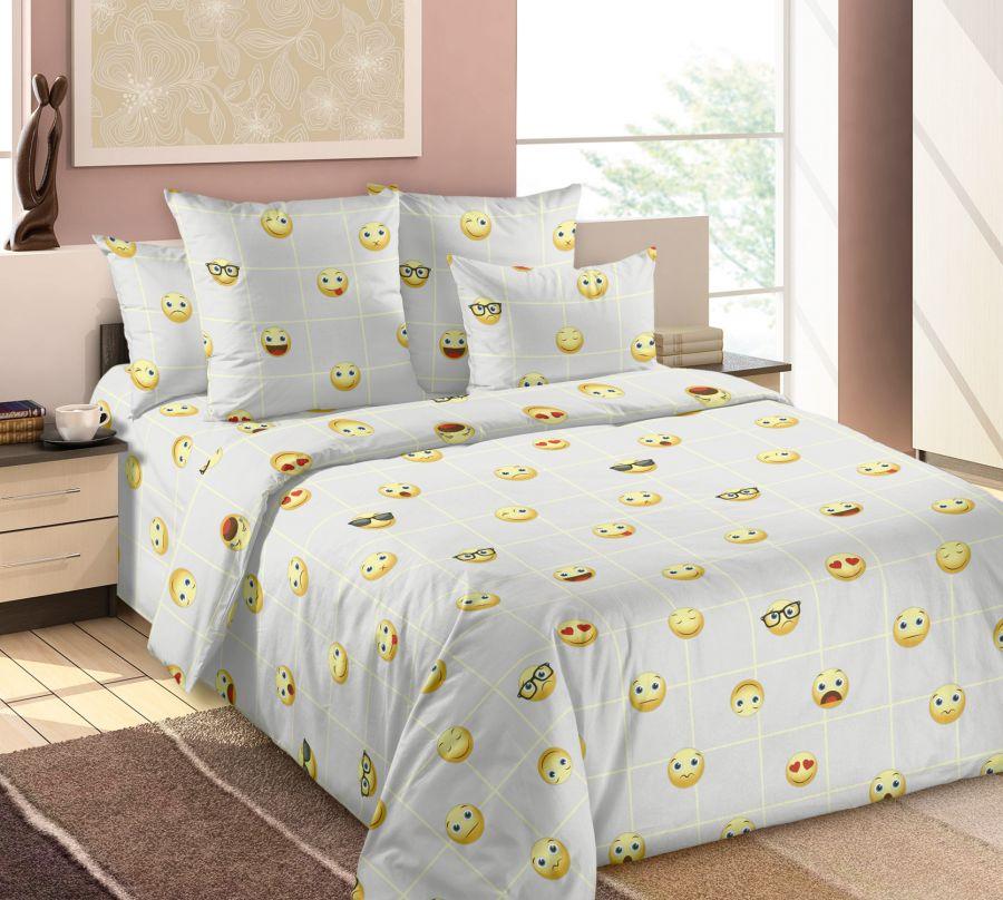 «Смайлы 3» постельное белье Бязь 2-х спальный