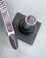 Valeri French base №027 (темный серо-фиолетовый, эмаль), 12 мл