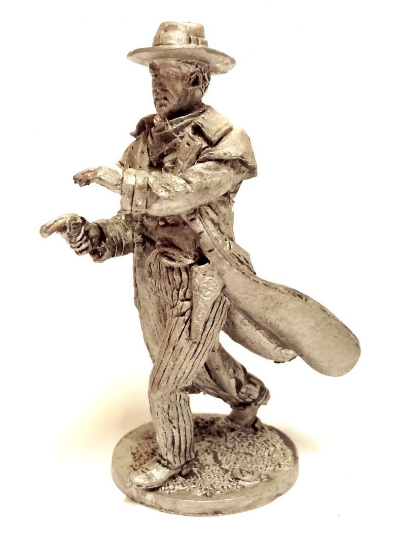 Фигурка Ковбой в плаще олово