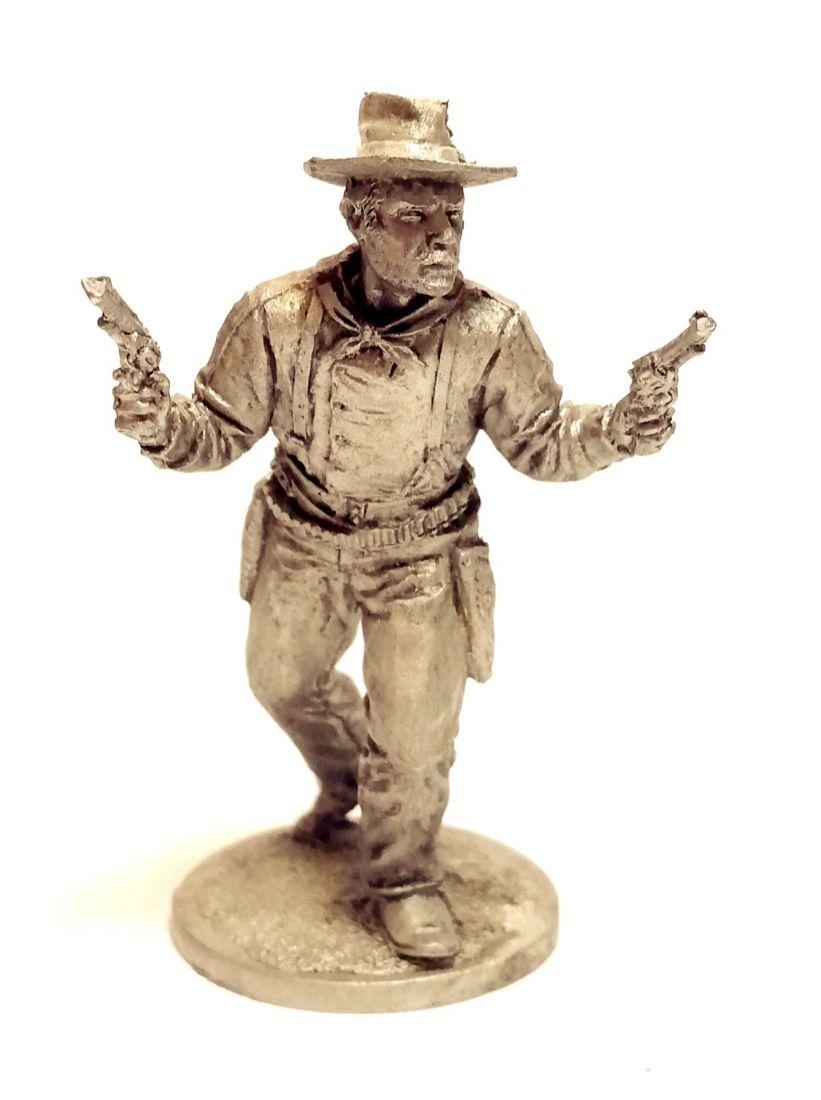 Фигурка Ковбой с двумя пистолетами олово