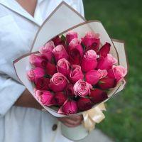 Акция! 29 кенийских роз в красивой упаковке