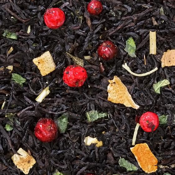 Для холодной погоды - черный чай с натуральными добавками
