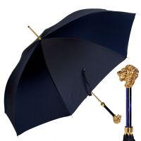 Зонт-трость Pasotti Leone Gold StripesS Dark Blu