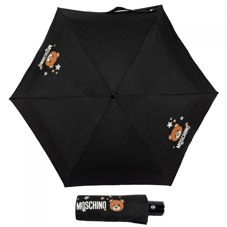 Зонт складной Moschino 8211-compactA Toy Stars Black