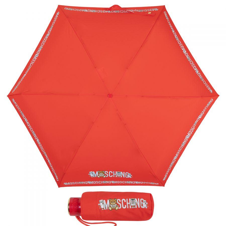 Зонт складной Moschino 8123-SuperminiC Toy Robot Red