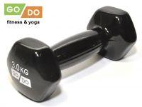 Гантель GO DO в виниловой оболочке. Вес 3 кг. (чёрный)., артикул 31556 (шт.)