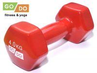 Гантель GO DO в виниловой оболочке. Вес 4 кг. (красный)., артикул 31730 (шт.)