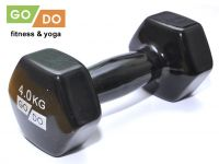 Гантель GO DO в виниловой оболочке. Вес 4 кг. (чёрный)., артикул 31730 (шт.)