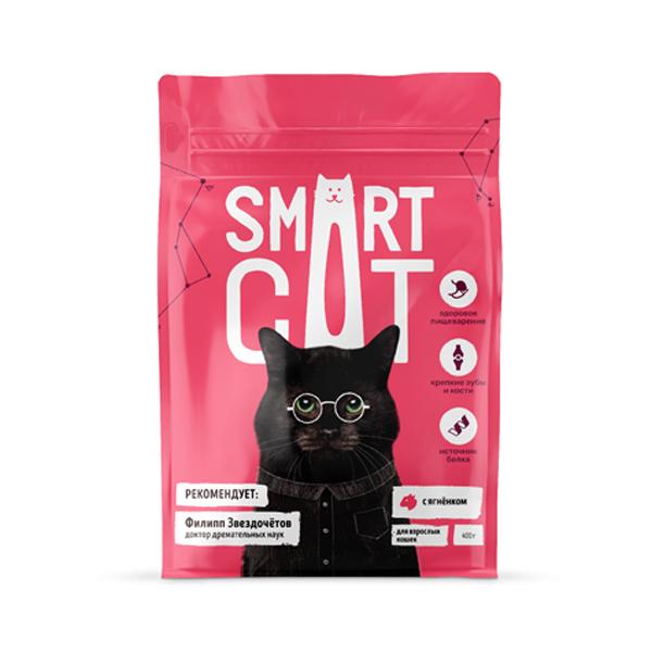 Сухой корм для кошек Smart Cat с ягненком 5 кг