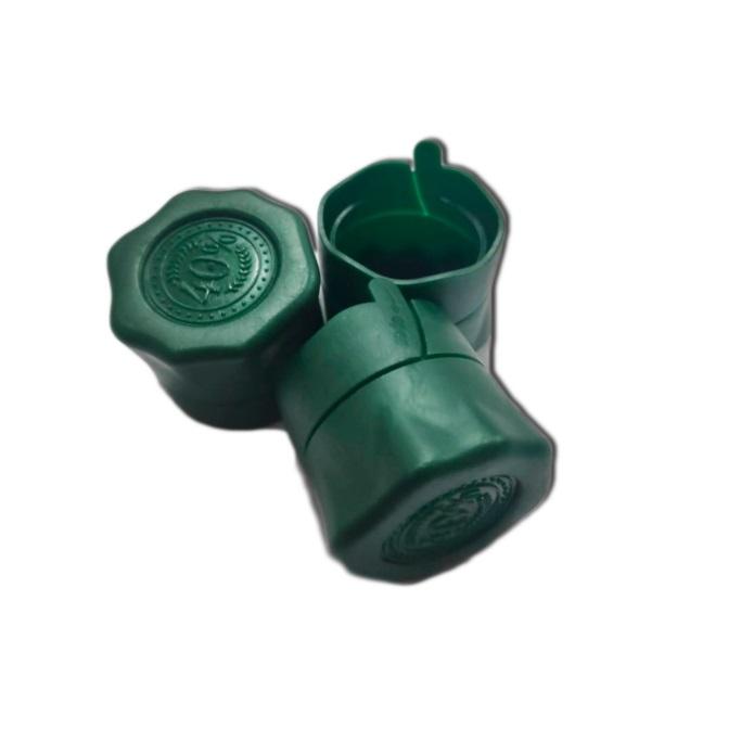 Пластиковая пробка на бутылку винт 28*18 мм, 10 шт (зеленый)