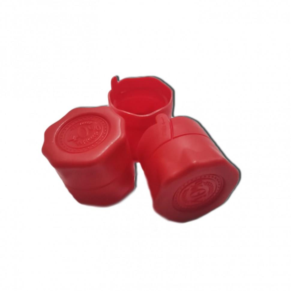 Пластиковая пробка на бутылку винт 28*18 мм, 10 шт (красный)