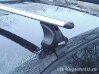 Багажник на крышу Skoda Octavia A8, Атлант, аэродинамические дуги, опора Е
