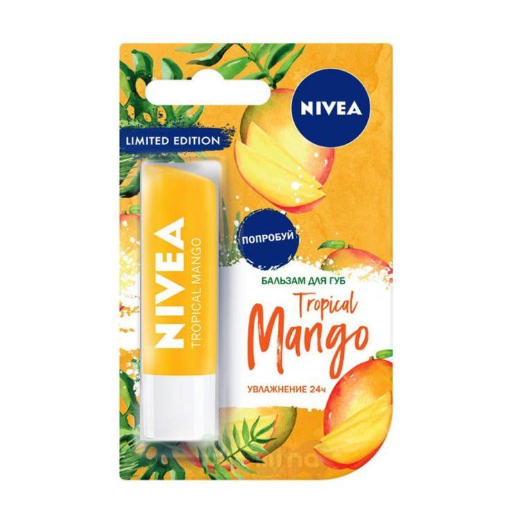 """Nivea Бальзам для губ увлажняющий """"Тропический манго"""", 4,8 гр."""