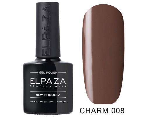 ELPAZA ГЕЛЬ-ЛАК  Charm 008  Ирис (Серо-коричневый)  10 мл
