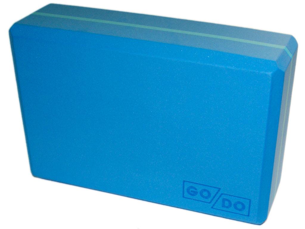 Кирпичик (блок) для йоги утяжелённый. Цвет голубой, артикул 00329