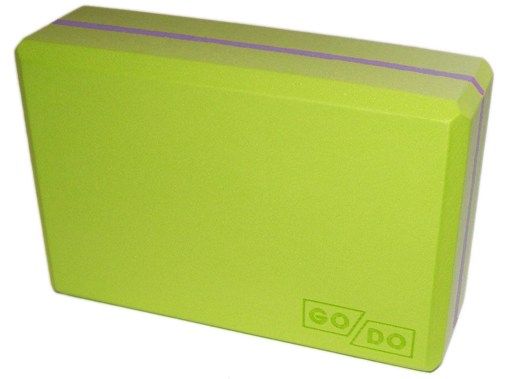 Кирпичик (блок) для йоги утяжелённый. Цвет зелёный, артикул 00326