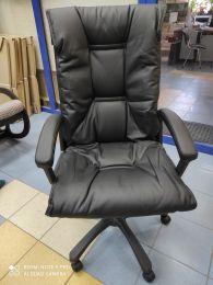 Кресло руководителя Форт 5(15) черный кожзам САЛОН