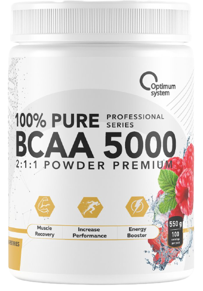 Optimum System 100% Pure BCAA 5000 Powder 550гр