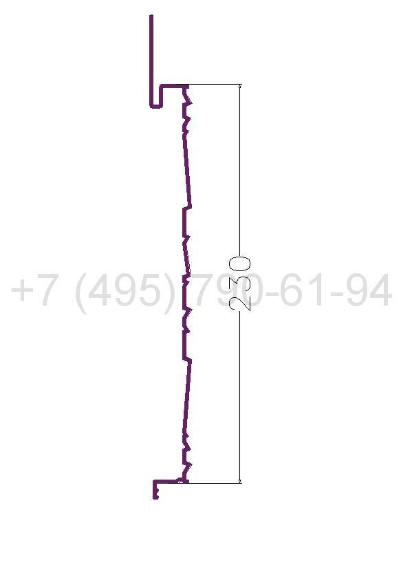 RD.S 2 Рейка рифленая алюминиевая (6,0) RAL