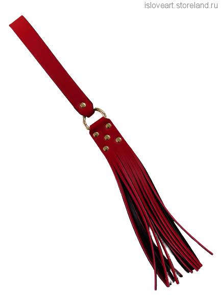Плеть, длина общая 43см, цвет красный/чёрный