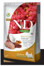 N&D Dog Quinoa Skin&coat Quail Adult Mini (Перепел, киноа, кокос и куркума для мелких пород. Здоровье кожи и шерсти)