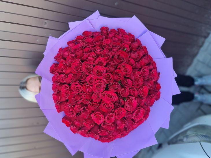 101 роза по акции