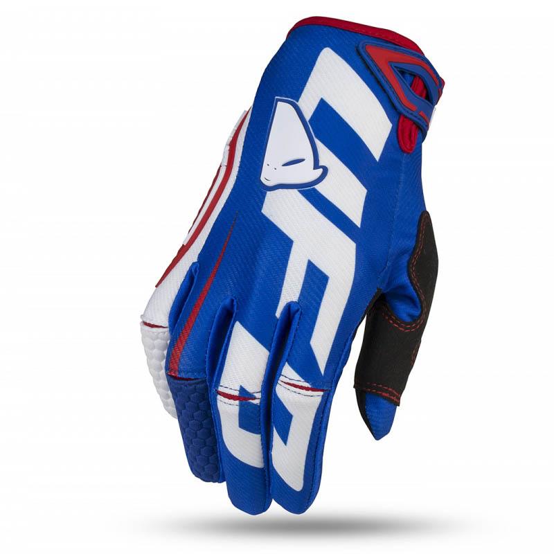 UFO Blaze Glove Blue/White перчатки для мотокросса, бело-синие