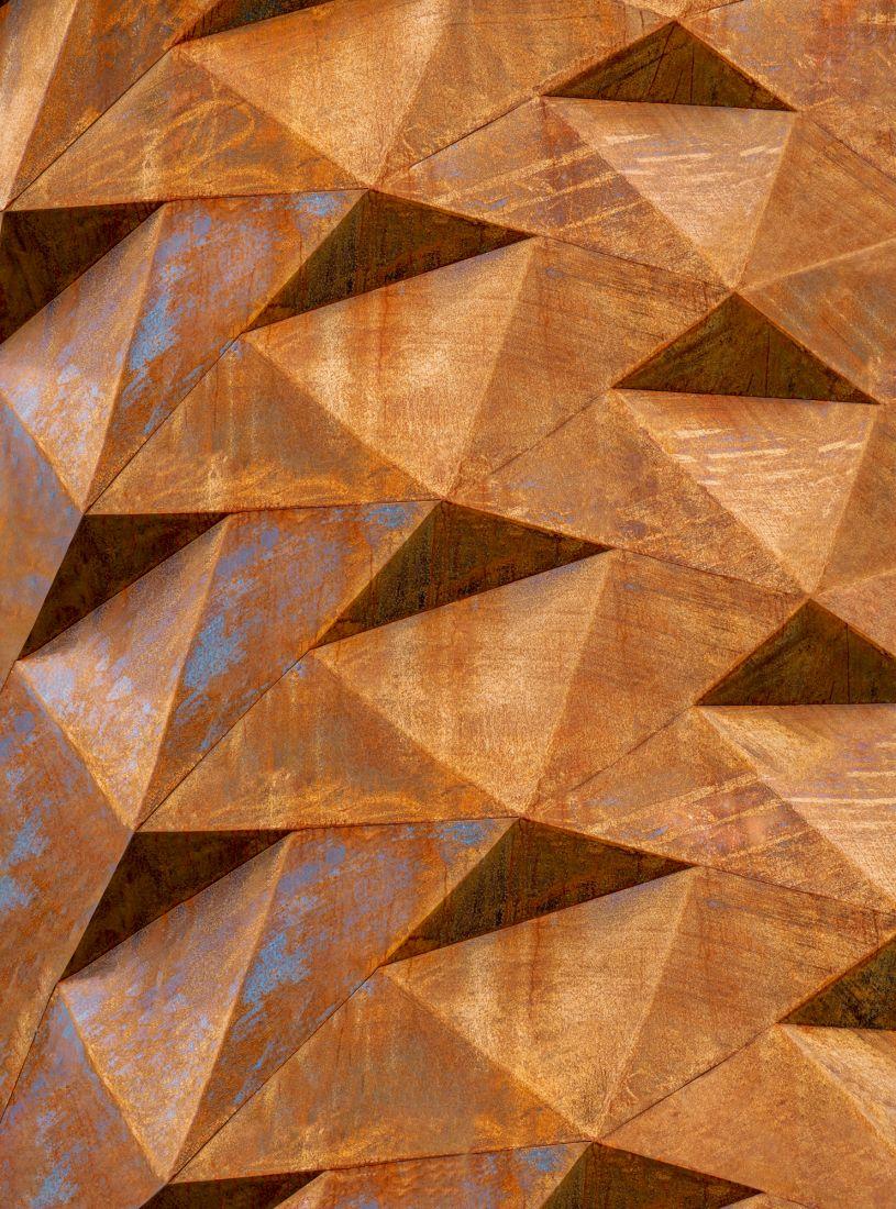 Фотообои Железная геометрия 3D 8002-М