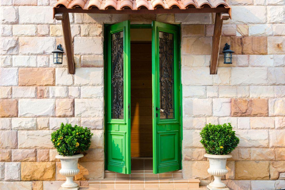 Зеленая дверь 22-050