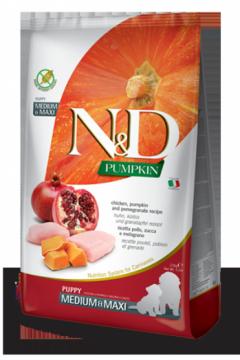 N&D Pumpkin Chicken & Pomegranate Puppi medium&maxi (Курица, гранат и тыква для щенков средних и крупных пород)
