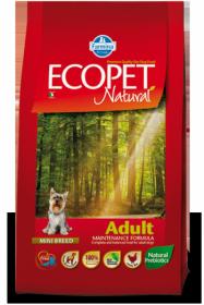 Ecopet Natural Adult Mini (Экопет Нэчурал для взрослых собак мелких пород с курицей)