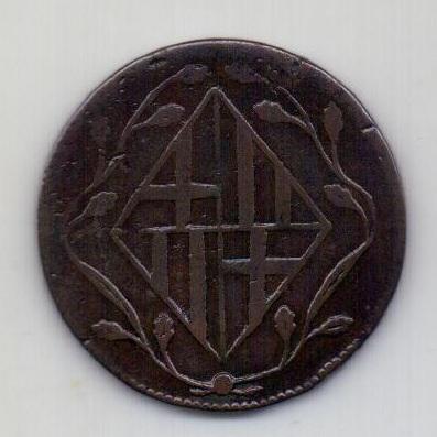 4 кварты 1813 Барселона Испания Франция Редкость