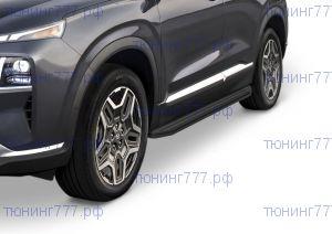 Подножки боковые, Rival Premium-Black, а/м с 04.2021-