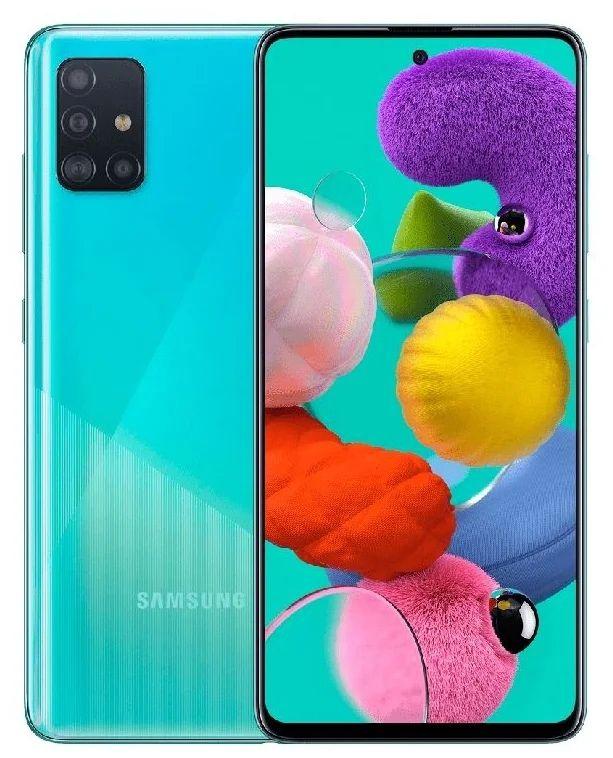 Смартфон Samsung Galaxy A51 64GB Синий (SM-A515FZBMSER!)